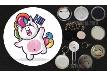 Badge Collection Licorne : Stickers Hi