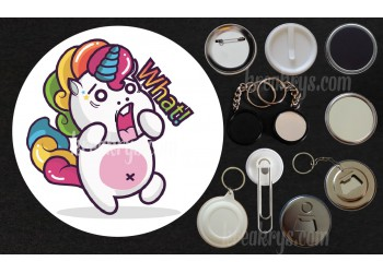 Badge Collection Licorne : Stickers what