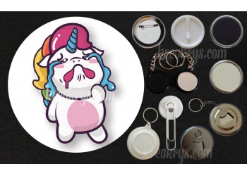 Badge Collection Licorne : Stickers pleure