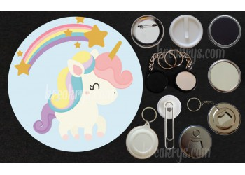 Badge Collection Licorne : Baby arc en ciel