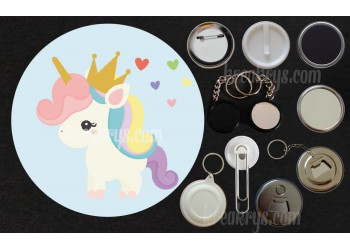 Badge Collection Licorne : Baby Royale