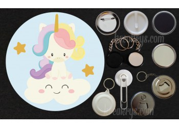Badge Collection Licorne : Baby nuage