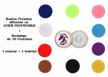 Bouton pression acier inoxydable diffuseur cheval