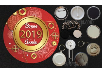 Badge Collection Citations : Bonne Année 2019