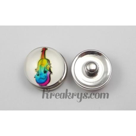 Bouton pression Violon multicolore