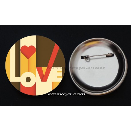 Badge Collection Saint Valentin : Love fleuri