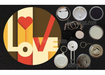 Badge Collection Saint Valentin : Love retro