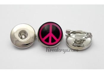 Broche pression métal simple, couleur argent
