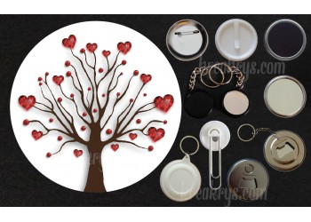 Badge Collection Saint Valentin : Arbre coeur