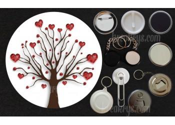 Badge Collection Saint Valentin : Arbre coeur