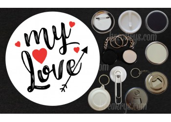 Badge Collection Saint Valentin : My Love