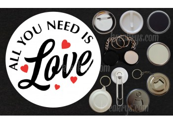 Badge Collection Saint Valentin : all you need is love