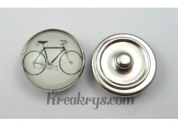 Bouton pression Rétro Vintage Vélo