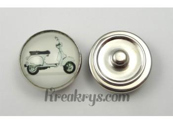 Bouton pression Rétro Vintage Vespa