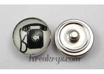 Bouton pression Rétro Vintage Téléphone