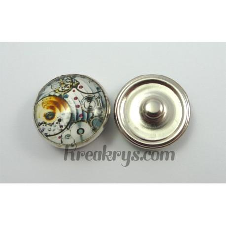 Bouton pression système d'engrenages