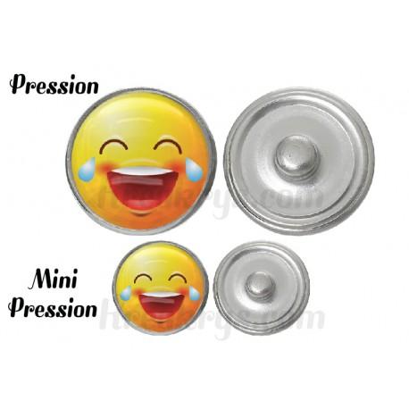 "Bouton pression verre collection ""Emoticônes"" : MDR"
