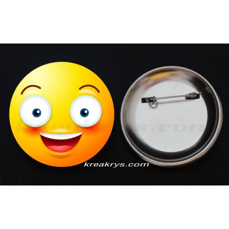 Badge Collection Emoticône : grand sourire