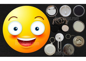 Badge Collection Emoticône : grand sourire
