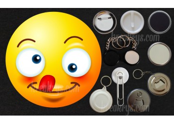 Badge Collection Emoticône : grimace