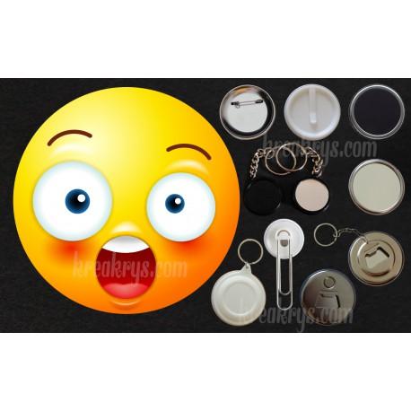 Badge Collection Emoticone Etonne