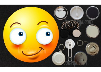Badge Collection Emoticône : souriant