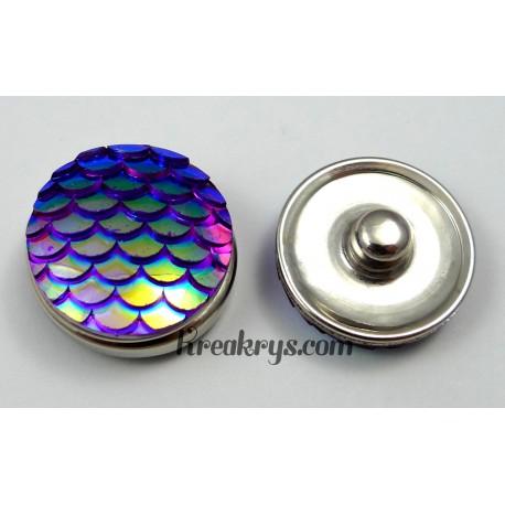 Bouton pression écaille violet bleu