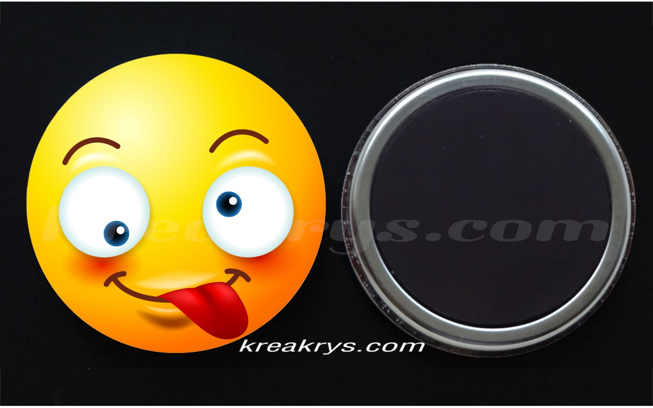 Badge Collection Emoticone Tire La Langue