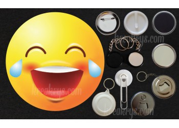Badge Collection Emoticône : MDR