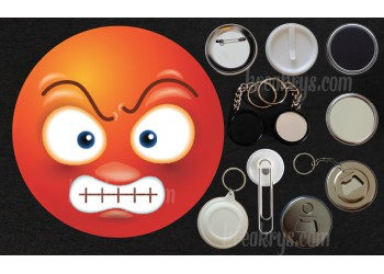 Badge Collection Emoticône : Grognon