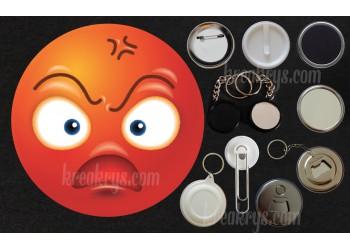Badge Collection Emoticône : Colère