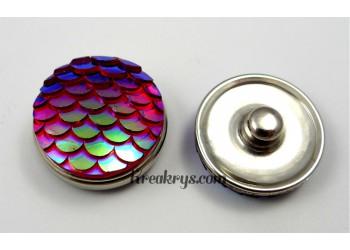Bouton pression écaille rouge violet