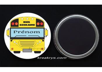 Badge Collection fin d'année scolaire - Bus Scolaire à personnaliser