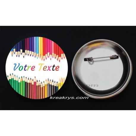 Badge Collection fin d'année scolaire - Crayons à personnaliser
