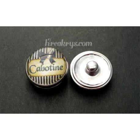 Bouton pression qualité & défaut : Cabotine