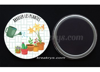 "Badge 25 mm Magnet collection ""Ma routine des tâches"" : Arroser les plantes"