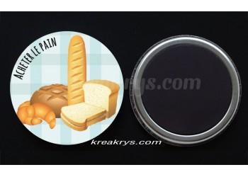 """Badge 25 mm Magnet collection """"Ma routine des tâches"""" : Acheter le pain"""