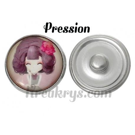 Bouton pression verre princesse Lila