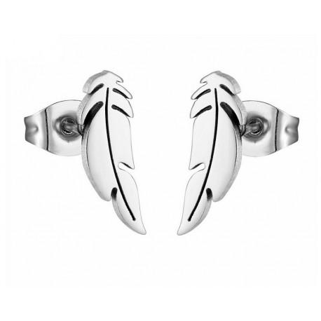 Boucles d'oreilles acier inoxydable Plumes
