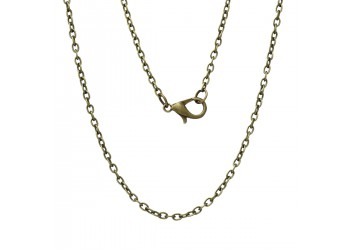 Chaine bronze 62 cm