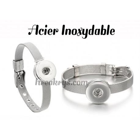 Bracelet pression Acier Inoxydable