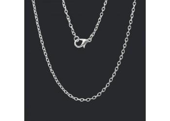 Chaîne argentée 62 cm