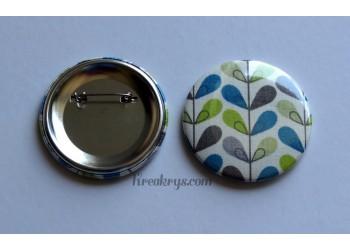 Badge 58 mm Broche épingle avec tissu effet blé coloré