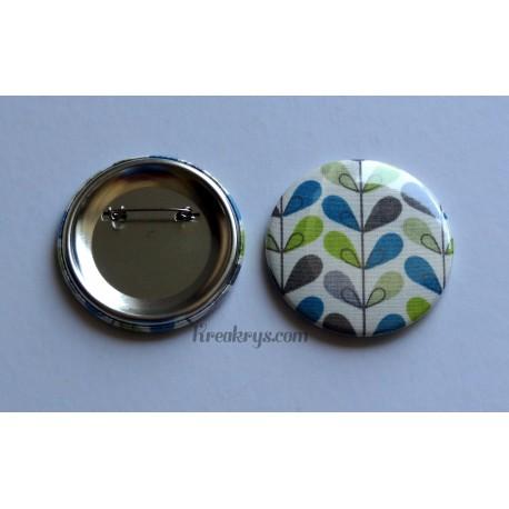 Badge 58mm Broche épingle tissu effet blé coloré