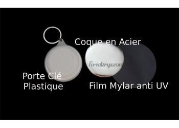 Badge 58 mm Porte Clé à Personnaliser avec une PHOTO