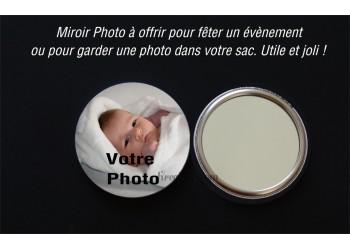 Badge 58 mm Miroir à Personnaliser avec une PHOTO