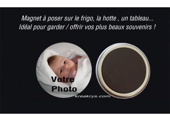 Badge 58 mm Magnet à Personnaliser avec une PHOTO