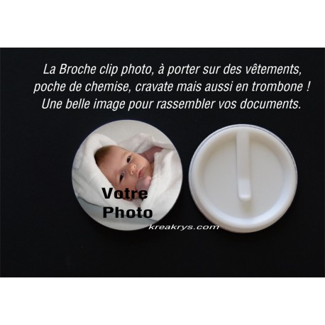 Badge 58mm clip à personnaliser PHOTO