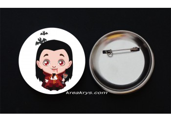 Badge Broche Epingle Halloween vampire