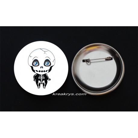 Badge Broche Epingle Halloween squelette